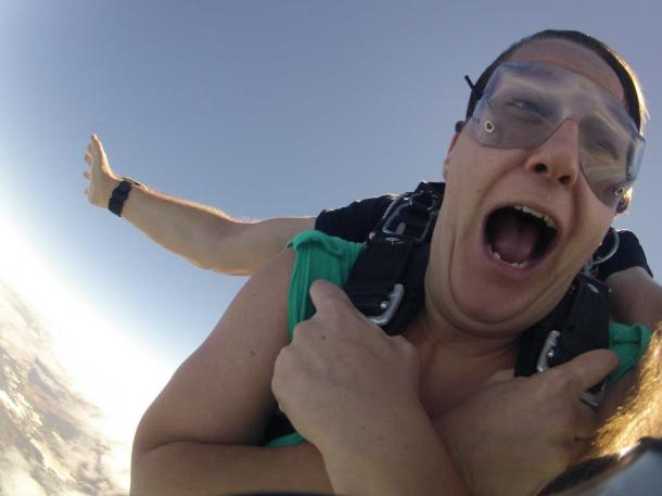 Skydiving: Nowhere near as terrifying as tanking.