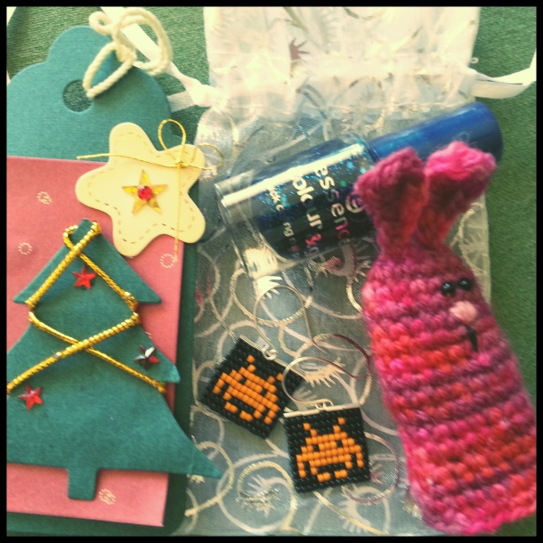 My lovely Secret Santa package from @glowbie